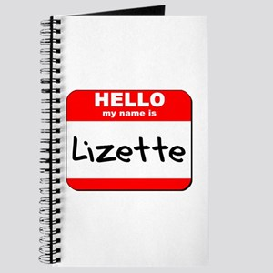 Hello my name is Lizette Journal