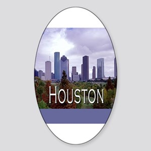 Houston 2 Oval Sticker