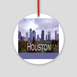 Houston 2 Ornament (Round)