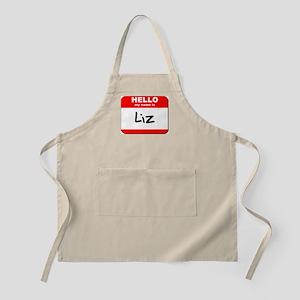 Hello my name is Liz BBQ Apron