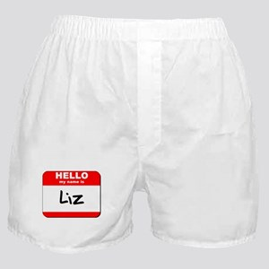 Hello my name is Liz Boxer Shorts