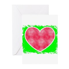 pink heart Greeting Cards (Pk of 20)