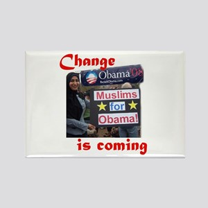MUSLIMS FOR OBAMA Rectangle Magnet