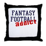 Fantasy Football Addict Throw Pillow