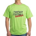 Fantasy Football Addict Green T-Shirt