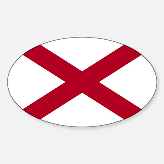 Alabama State Flag Oval Decal