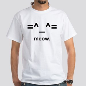Anime Kitty Cat Emoticon T-Shirt (white)