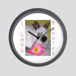 I love bunnies! Wall Clock