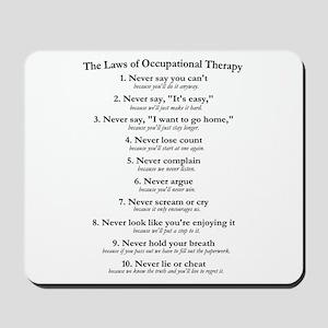 Laws of O.T. Mousepad