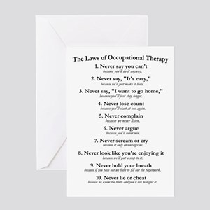 Laws of O.T. Greeting Card