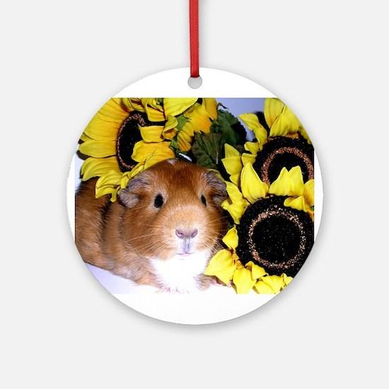 Sunflowers Pig! Ornament (Round)