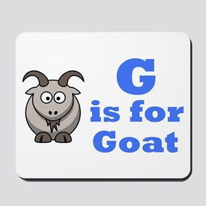 G is for Goat Blue - Mousepad
