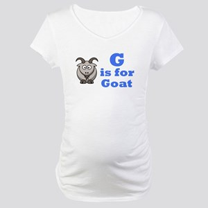 G is for Goat Blue - Maternity T-Shirt