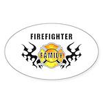 Firefighter Family Sticker (Oval 50 pk)