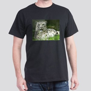 Snow Leopard 3 Ash Grey T-Shirt