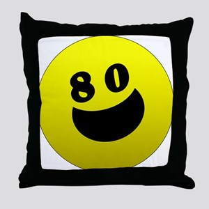 80th Birthday Gifts Throw Pillow