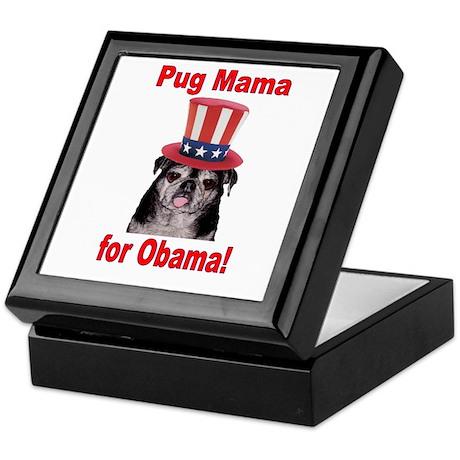 Obama Pug Mama Keepsake Box
