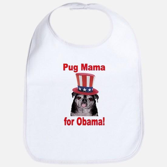Obama Pug Mama Bib