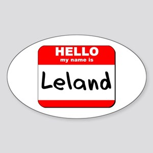 Hello my name is Leland Oval Sticker
