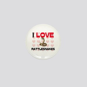 I Love Rattlesnakes Mini Button