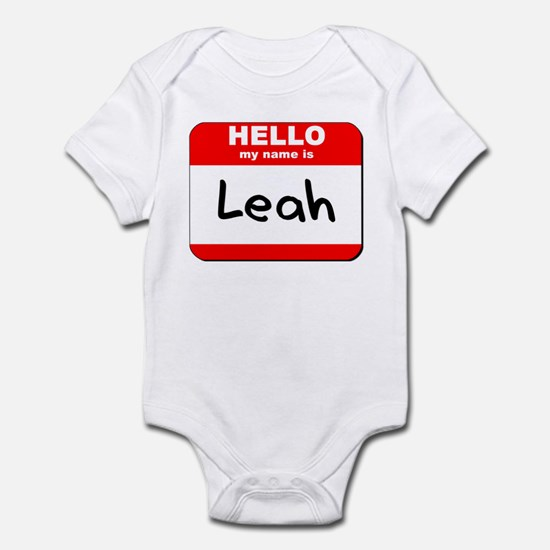 Hello my name is Leah Infant Bodysuit