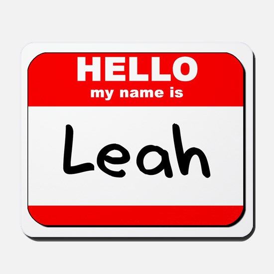 Hello my name is Leah Mousepad