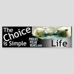 Pro-Life Polar Bears Bumper Sticker