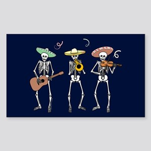 Mariachi Skeletons Rectangle Sticker