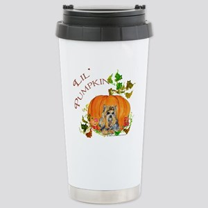 Pumpkin Yorkshire Terrier Stainless Steel Travel M