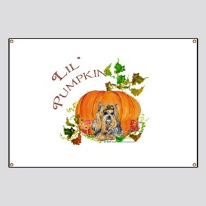Pumpkin Yorkshire Terrier Banner