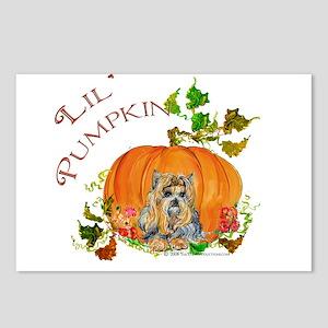 Pumpkin Yorkshire Terrier Postcards (Package of 8)