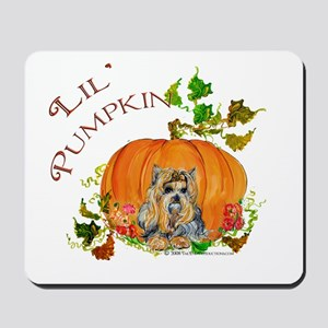 Pumpkin Yorkshire Terrier Mousepad
