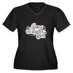 I Am A Twilight Girl Women's Plus Size V-Neck Dark