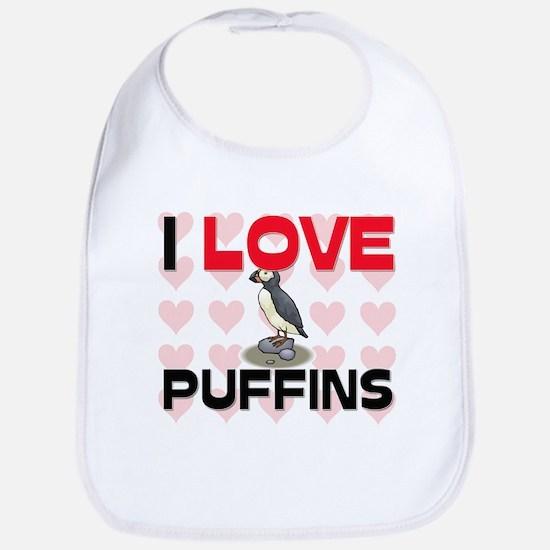 I Love Puffins Bib