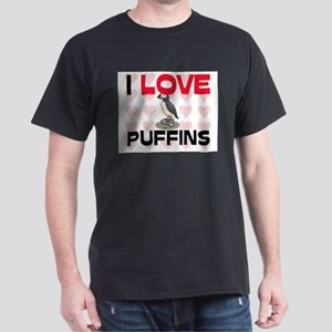 I Love Puffins Dark T-Shirt