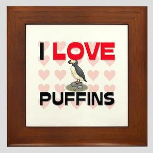 I Love Puffins Framed Tile