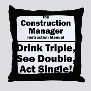 Construction Manager Throw Pillow