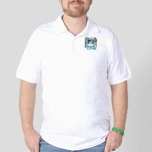 Scrapbook Pug Christmas Golf Shirt
