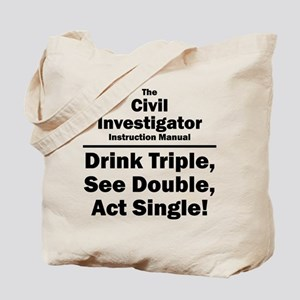 Civil Investigator Tote Bag