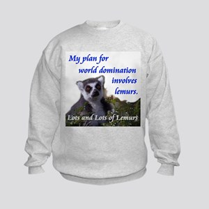 Domination Lemurs Kids Sweatshirt