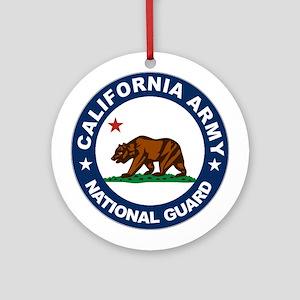California Army National Guar Ornament (Round)
