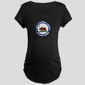 California Army National Guar Maternity Dark T-Shi