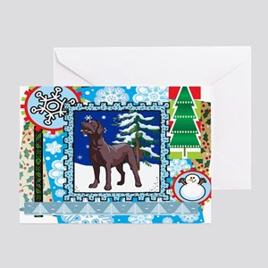 Scrapbook Chocolate Lab Christmas Greeting Card