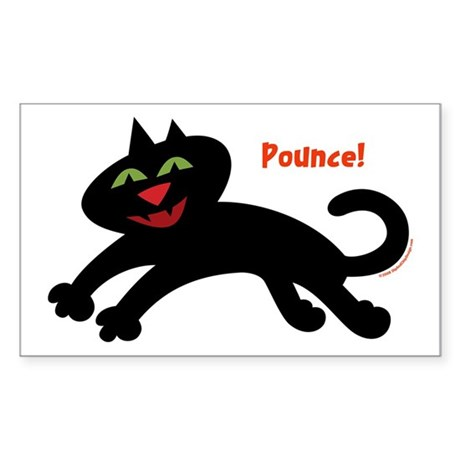 Pounce Cat Rectangle Sticker