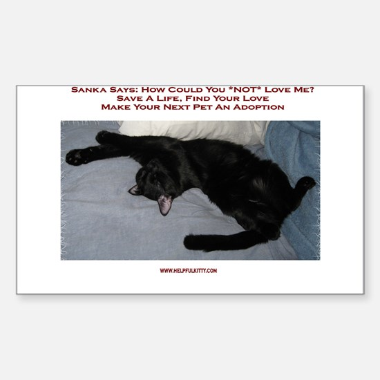 Adopt a Pet #1 Rectangle Decal