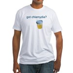 Got Chlamydia? Fitted T-Shirt