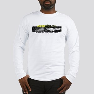 Ufo crossing, aliens, ufos Long Sleeve T-Shirt