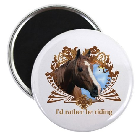 I'd Rather Be Riding Horses Magnet