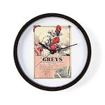 Greys Cigs Wall Clock