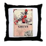 Greys Cigs Throw Pillow